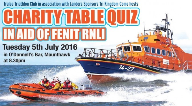 Tralee Triathlon Club RNLI Quiz Night – 5th July